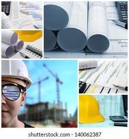 Construction project management collage