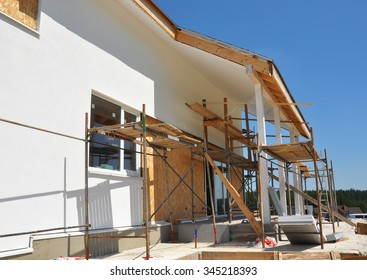 Construction or Repair of the Rural House with Skylights, Eaves, Windows, Fixing Facade, Insulation, Plastering and Painting House Facade Wall.