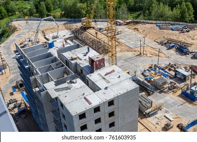 construction of a residential building of reinforced concrete slabs