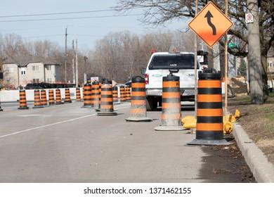 Construction Road Closure City Road Urban Major Road Detour