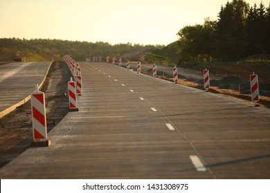 Construction  road  concrete highway cone barrier