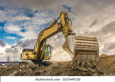 Construction of a road. Earth movement