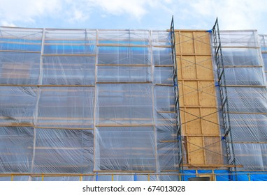construction scaffold plastic metal structure renovation building repair