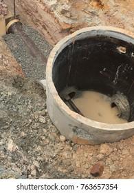 Construction of sewerage manhole