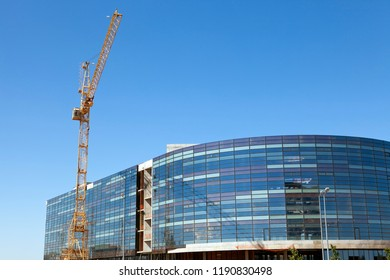 Construction of a shopping Mall or office building