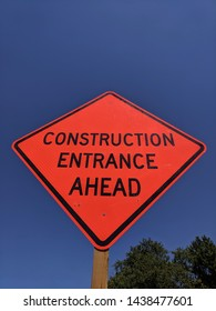 Construction sign at the entrance to a construction site in Leesburg Virginia