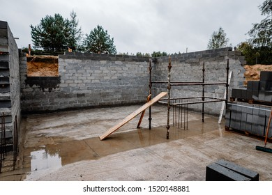 Construction of a single-family house with a basement