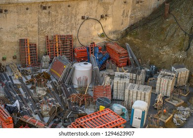 Construction site from above.