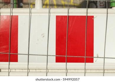 Construction site barrier