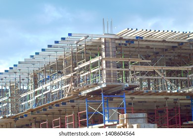 construction site beam structure steel frame architecture