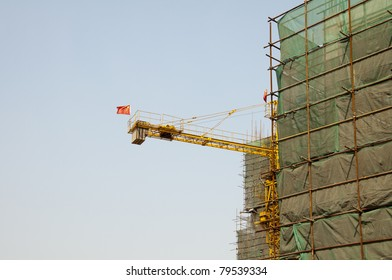 A construction site in China