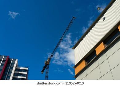 Construction site with a crane