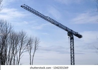 construction site crane hoist heavy industry tools machinery