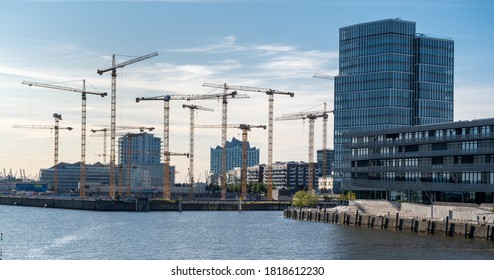 Construction site in the district Hafencity of Hamburg, Germany. - Shutterstock ID 1818612230