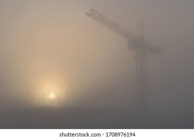 Construction Site in the Fog