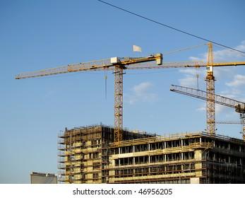 Construction site in Hamburg Germany.