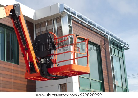construction site hydraulic elevator lift structure equipment nacelle platform