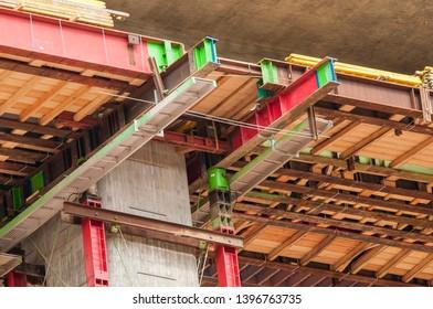 Construction site of a motorway bridge