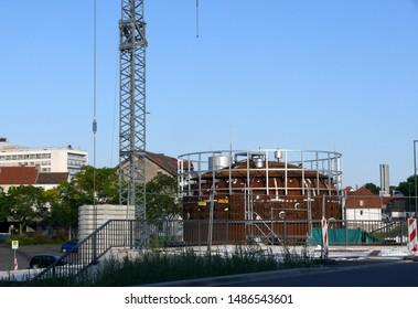 construction site near  train station detmold