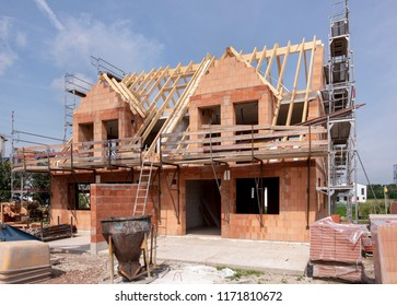 construction site of an new built house