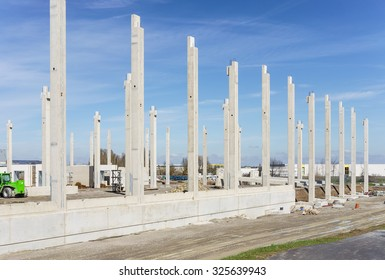 Construction site for a new factory