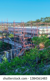 A construction site of a new home being built in australia