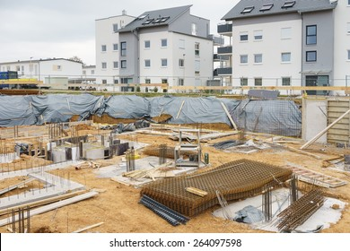 Construction site for a new house