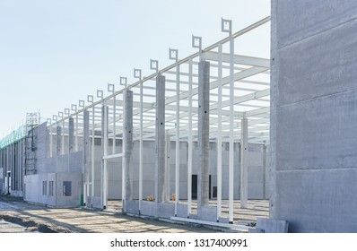 Construction site for a new industrial hall