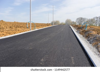 Construction site for a new road