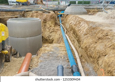 Construction site for a new water pipe