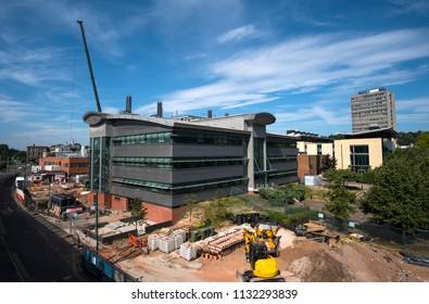 Construction site at Nottingham University, Nottingham, UK