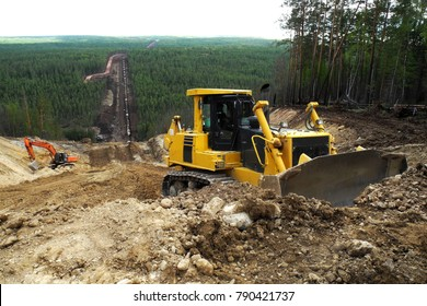 Construction site of oil pipeline
