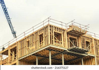 Construction site on new building