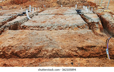 construction site preparation for the house foundation