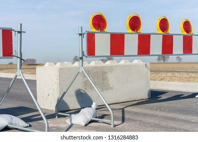 Construction site and roadblock