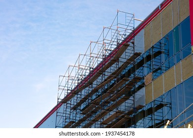 construction site scaffold building wall structure