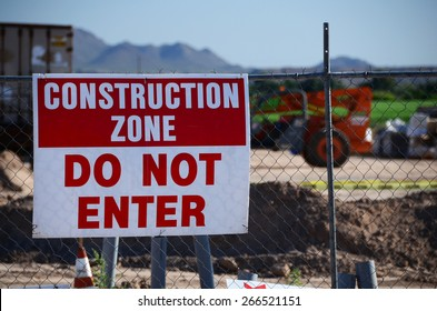 Construction Site and Sign