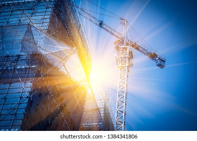 Construction site for urban construction