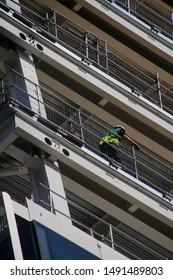 Construction site in an urban environment