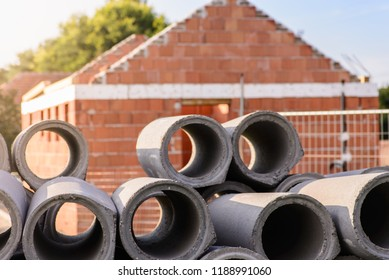 Construction of a small brick building and drainage