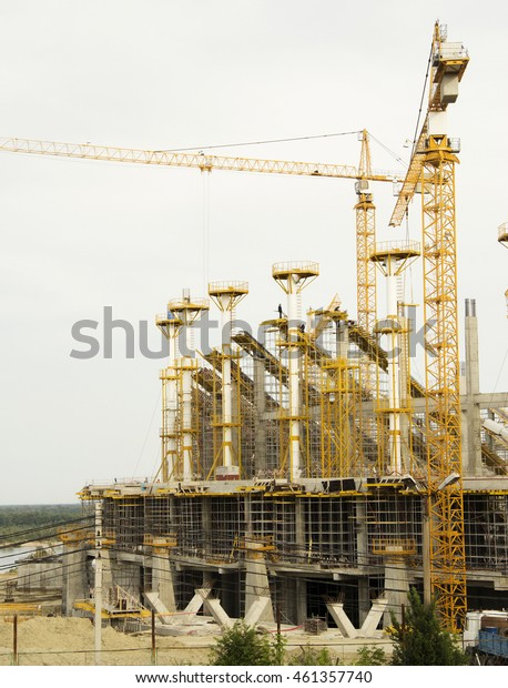 the construction of the stadium for the football world Cup in Volgograd