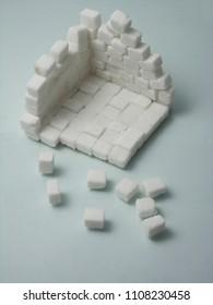 Construction suger cube concept idea