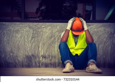 Construction supervisor is sad after end job