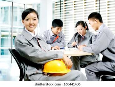 A construction team
