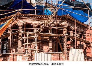 construction temple in Kathmandu, Nepal