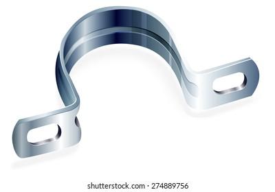 Construction Tool - U Clamp - Illustration