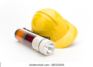 Construction tools on white background.