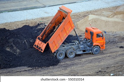 Construction. To unload a truck dump truck