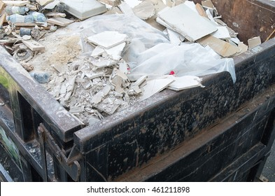 Construction wastes dump container