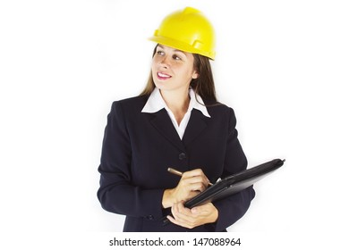 Construction Woman Smiling